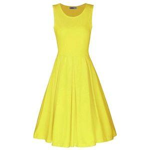 Yellow sleeveless dress - never worn - Medium